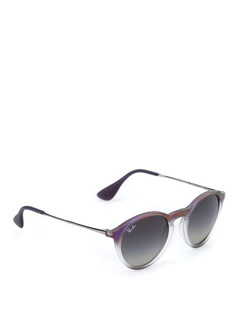Original Ban Rb4243 Sunglasses Violet occhiali pantos viola e grigi ban occhiali da sole