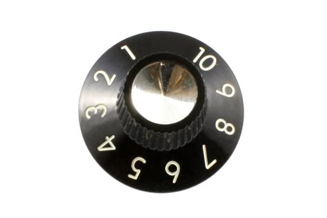 Set Knob by Black Knob Set Allparts