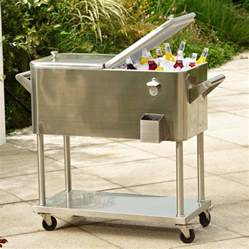 Steel Patio Cooler by Outdoor Ice Chest Beverage Cooler Ideas For Your Patio Or Deck