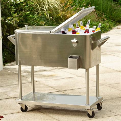 Stainless Steel Patio Cooler by Outdoor Chest Beverage Cooler Ideas For Your Patio Or Deck