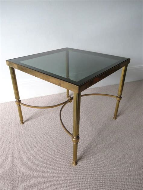 vintage brass side table vintage brass glass coffee table side table ebay