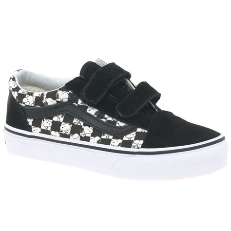 vans peanuts snoopy check youth canvas shoes