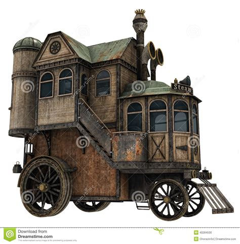 house of wheels fantasy house on wheels stock illustration illustration of building 40284530