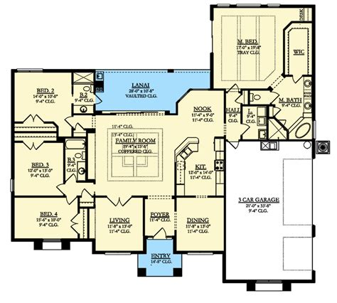 ad house plans 4 bed mediterranean house plan with lanai 82192ka