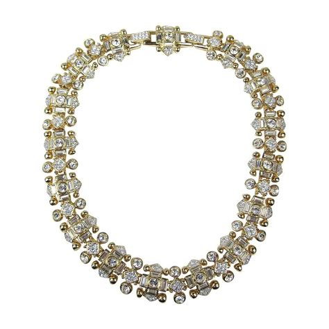 quot jeweler s collection quot swarovski crystal gold gilt choker