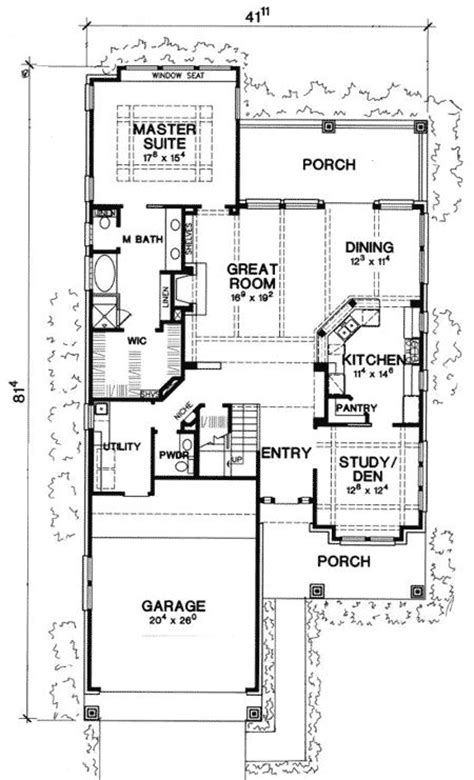 Narrow Lot House Plans Craftsman by 1000 Ideas About Narrow Lot House Plans On