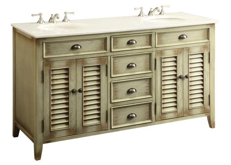 Bathroom Vanities 4 Less by 60 Inch Beige Bathroom Vanity Cottage Style White