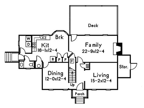Walton House Floor Plan by Walton Colonial Home Plan 001d 0002 House Plans And More