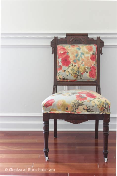 chair repair upholstery makeover makeover monday eastlake chair with floral fabric