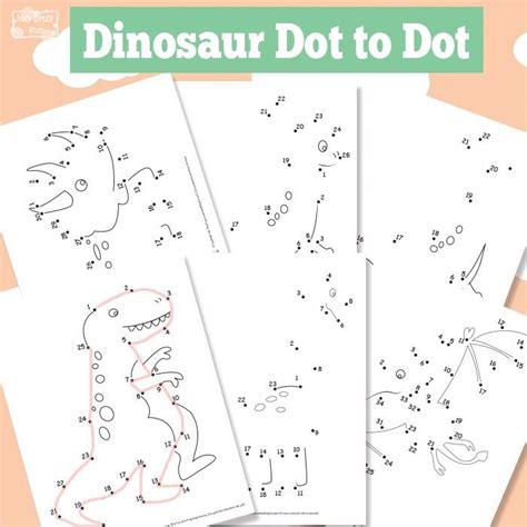 printable dot to dot dinosaurs free printable dinosaur dot to dots