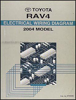 2004 toyota rav4 wiring diagram manual original