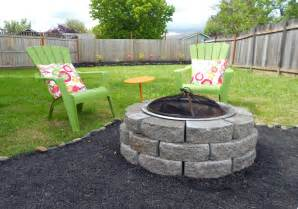 abby backyard makeover diy crushed rock patio