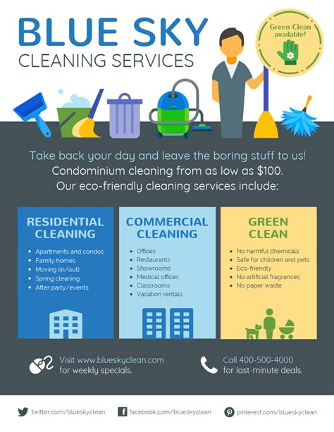 cleaning company flyers template cleaning service flyer template venngage