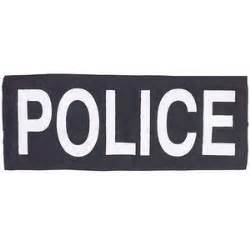Home Decor Canvas Wall Art black and white police sign polyvore