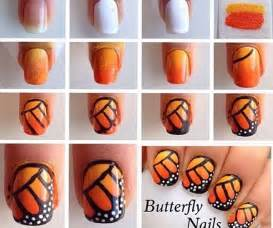 Beautiful and attractive butterfly nail art designs