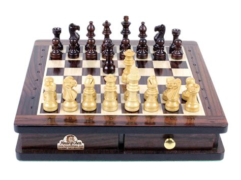 magnetic chess travel magnetic chess set rosewood 9 quot algebraic notation