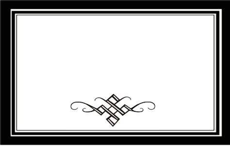 black and white border cards template free scroll template clipart best