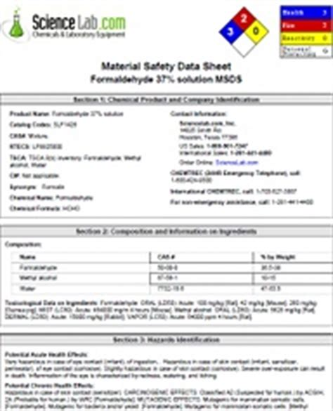Safety Documents And Materials Data Sheets Ucla Chemistry And Biochemistry Safety Data Sheet Template 2017