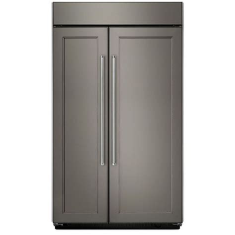 "kitchenaid kbsn602epa 42"" side by side panel ready"