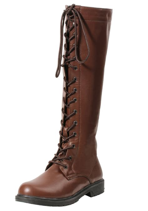 womans boots s brown lace up boots