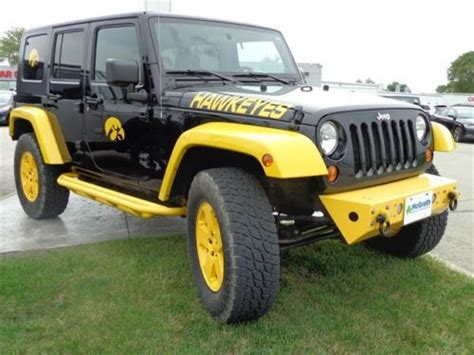 Used Jeeps For Sale In Iowa Purchase Used 2010 Iowa Hawkeyes Hawk Out Wangler 3 8l