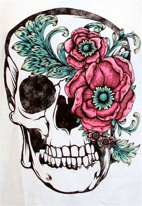 girly skull tattoos with flowers 1000 images about tattoo