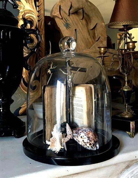 fr globe de style cabinet de curiosites avec cloche en