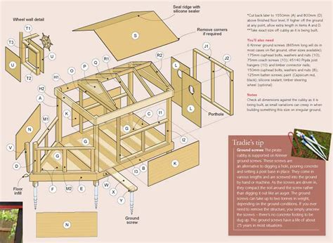 build wooden wooden cubby house plans plans