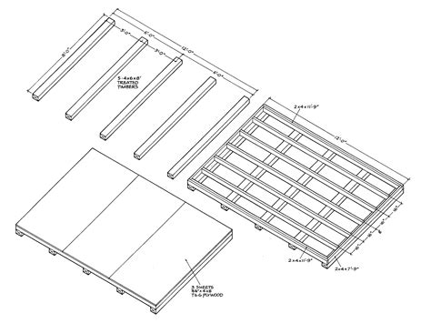 wood floor framing plan shed plans 12x16 with porch wall must see