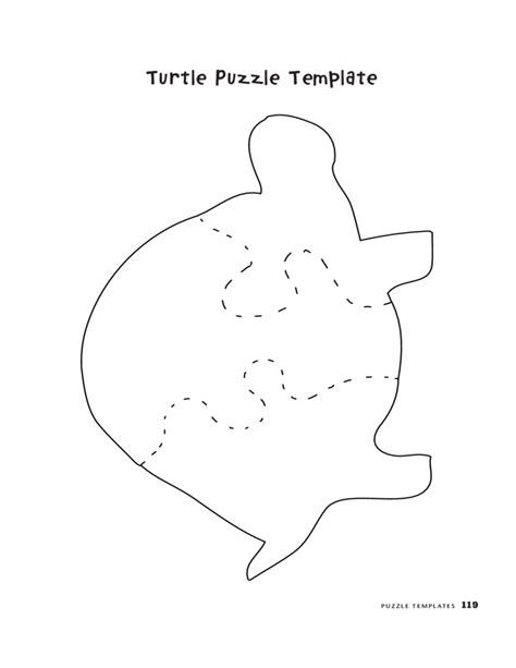 Pig Puzzle Template Free Download 3 Puzzle Template