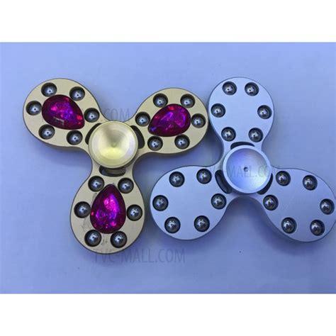Spinner Alumunium 3 Bola Chrystal 18 metal balls triangle spinner fidget adhd focus black tvc mall