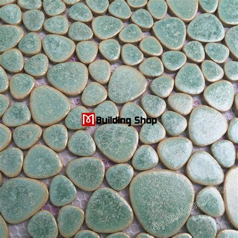 green porcelain wall tiles pebble mosaic ppmt044 pebble flooring tiles porcelain pebble mosaic