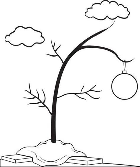 Free printable charlie brown s christmas tree coloring page for kids