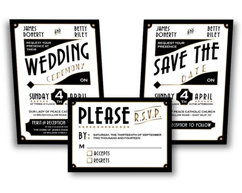 invitation designs etsy art deco wedding invitation design etsy by cfergodesigns
