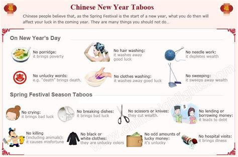 chinese new year taboos things you should not do during