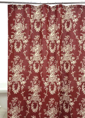 red toile shower curtain waverly by famous home fashions country house red shower