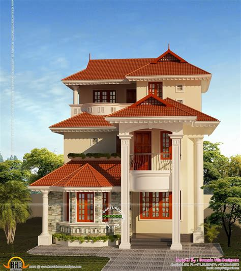 3 floor house october 2014 kerala home design and floor plans