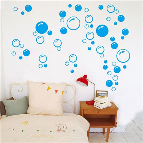 bathroom wall art stickers removable bubbles diy art wall decal home decor wall