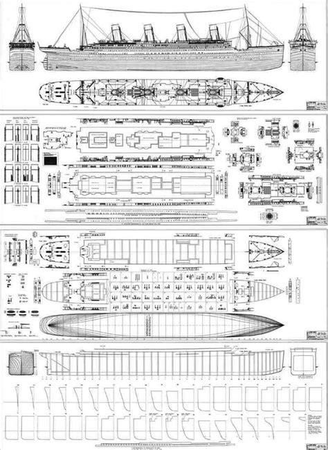 titanic floor plans blueprints of the ship of dreams titanic pinterest