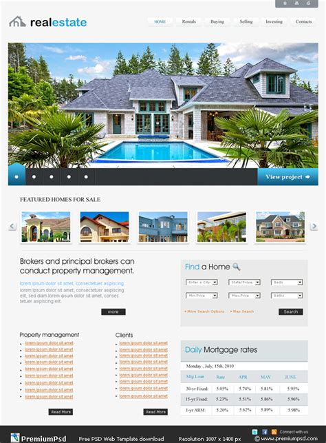 Estate And Letting Agent Website Designers And Developers In Londonmobicost Real Estate Website Templates