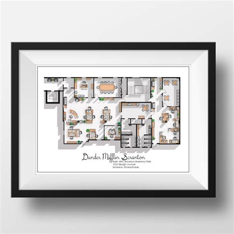 dunder mifflin floor plan the office us tv show office floor plan dunder mifflin