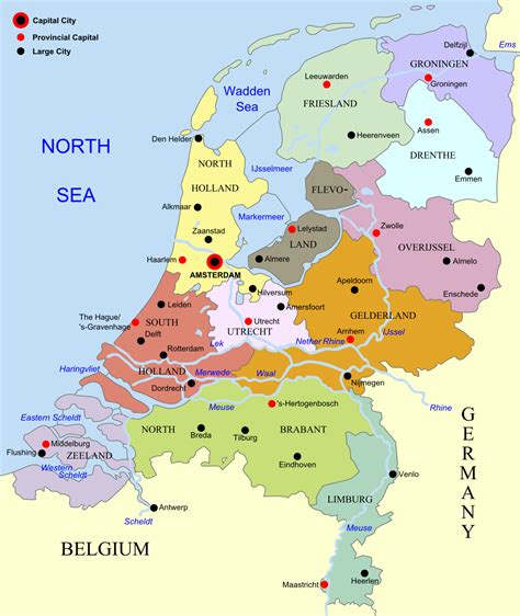 netherlands capital map file netherlands map large png