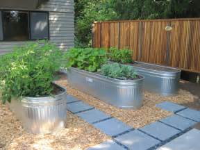 elevated container garden planters trough as a raised garden grow containers