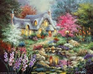 mon jardin fleuri de beaux tableaux de paysage et de