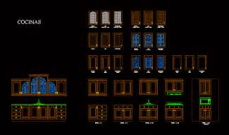 Kitchen Cabinet Cad Blocks by Kitchen Furniture In Autocad Drawing Bibliocad