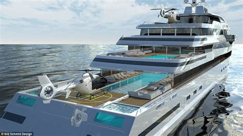 glass bottom boat cape town halcyon superyacht has a glass superstructure daily mail