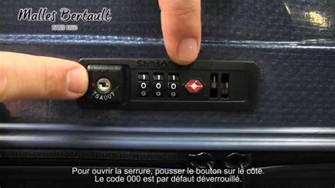 code cadenas valise perdu tutoriel valise samsonite gamme cosmolite youtube