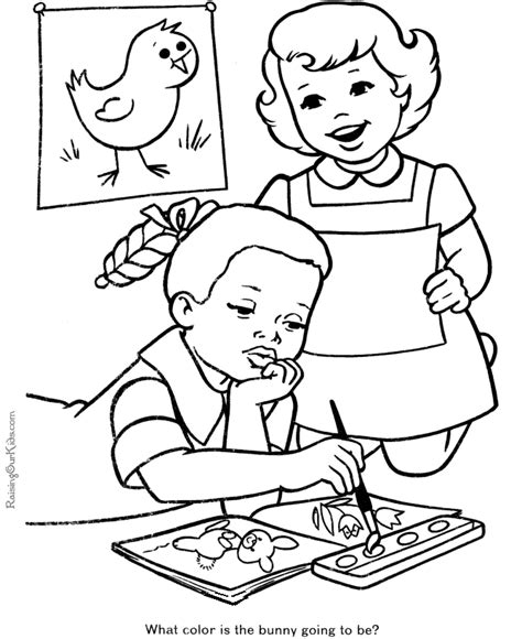 Back To School Coloring Pages For Kids Coloring Home School Coloring Page Printable