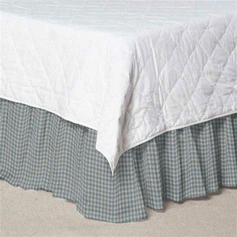 gingham bed skirt blue skyandwhite gingham checks fabric dust ruffle queen