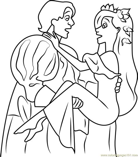 enchanted princess coloring pages prince edward and princess coloring page free